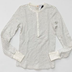 NWT L.L. Bean Striped Ribbed Long Sleeve Tee